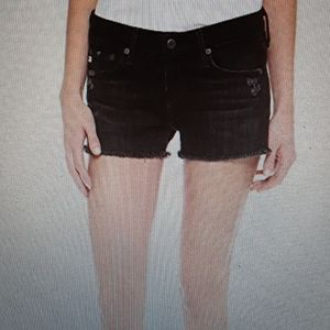 AG Bonnie Relaxed  Shorts.  Black.  Size 27